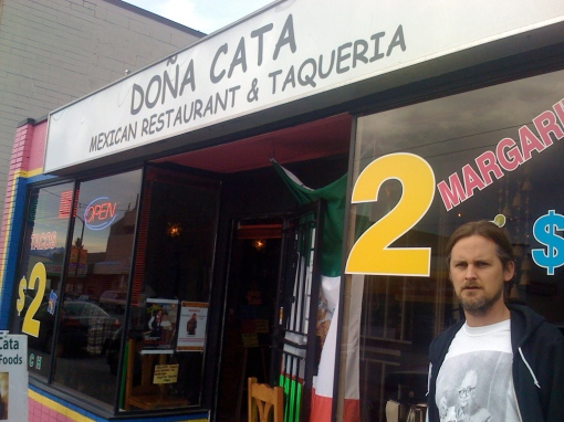 The big homie Sipreano holdin it down outside of Dona Cata (Vancouver, 2010)